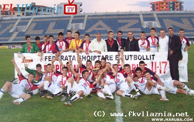 Vllaznia U-17 - Kampion te Shqiperise