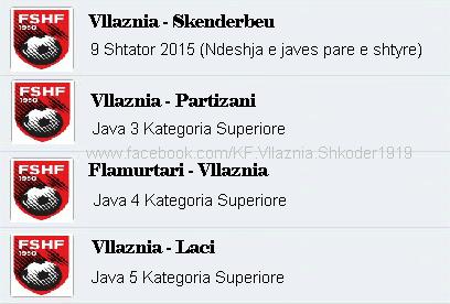 Java e ardhshme, kalendar ferri për Vllazninë