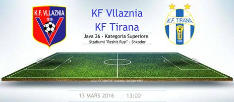 Java 26: KF Vllaznia - KF Tirana