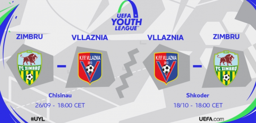UEFA Youth League,  Vllaznia kunder Zimbru